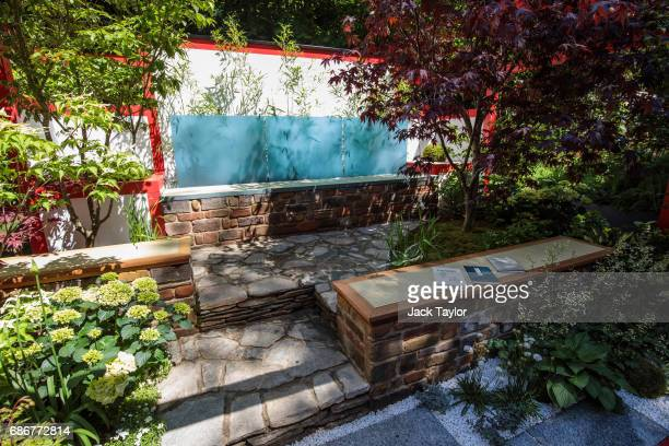The 'Hagakure Hidden Leaves Garden' on display at the Chelsea Flower Show on May 22 2017 in London England The prestigious Chelsea Flower Show held...