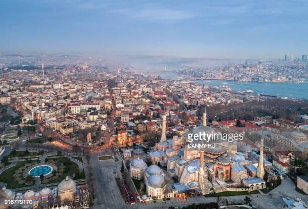 the hagia sofia in istanbul - istanbul stockfoto's en -beelden