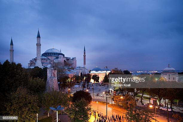 The Hagia Sophia church, now a museum, on October 17, 2009 in Istanbul, Turkey. The Turkish metropolis on the Bosphorus, in the past capital various...