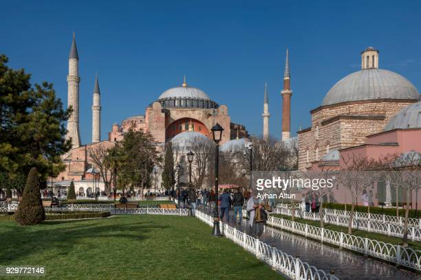The Hagia Sophia in Sultanahmet Square,Fatih District of Istanbul,Turkey