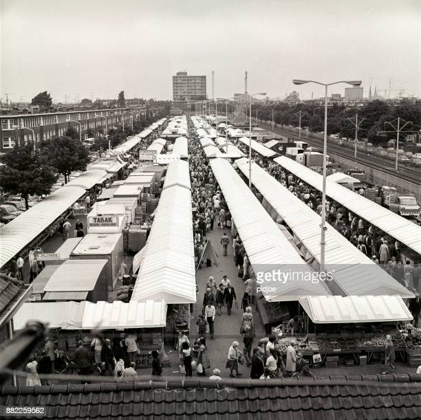 the hague market, hobbemaplein, the hague in 1963 after it's first renovation - hague market stock pictures, royalty-free photos & images