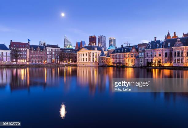 the hague skyline - binnenhof stock photos and pictures