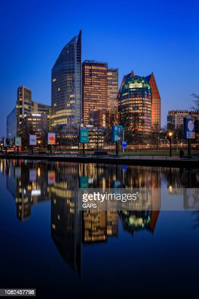 the hague's modern architecture - the hague stock pictures, royalty-free photos & images