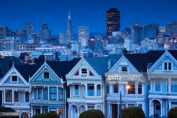 The Haight, houses at Alamo Square
