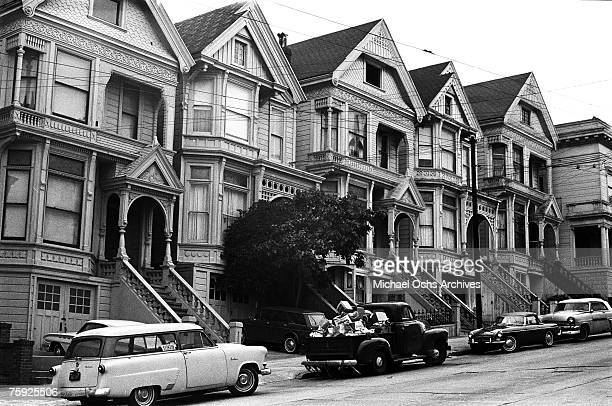 The HaightAshbury district is known for its Victorian/Queen Annestyle homes in early summer 1967 in San Francisco California
