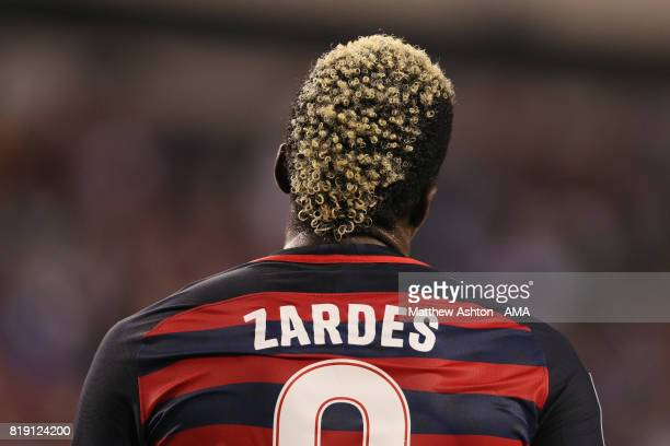 The hair of Gyasi Zardes of United States of America during the 2017 CONCACAF Gold Cup Quarter Final match between United States of America and El...
