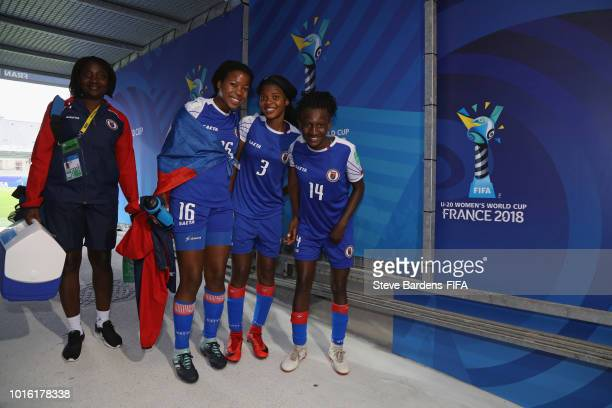 The Haiti players in the players tunnel after the FIFA U20 Women's World Cup France 2018 group D match between Germany and Haiti at Stade de la...