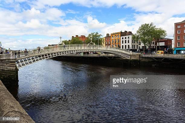 The half penny bridge in Dublin, Ireland