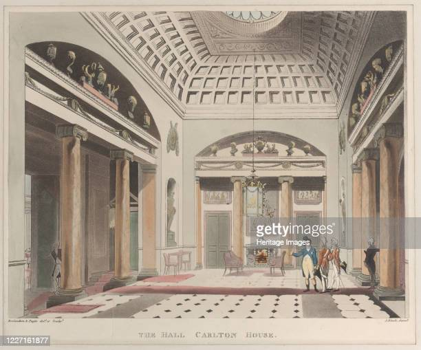 The Hall Carlton House April 1 1808 Artist J Bluck