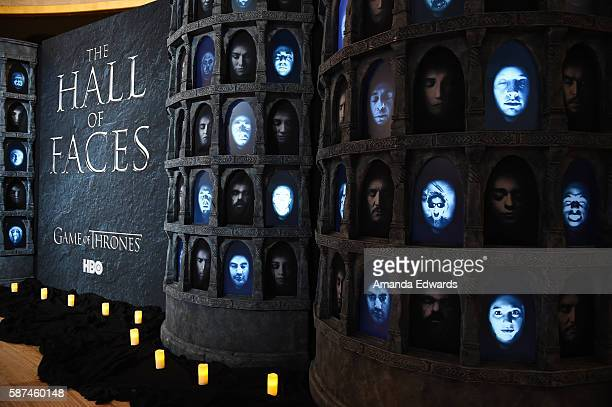 The Hall of Faces is displayed at HBO's 'Game Of Thrones' Live Concert and QA event with composer Ramin Djawadi at the Hollywood Palladium on August...