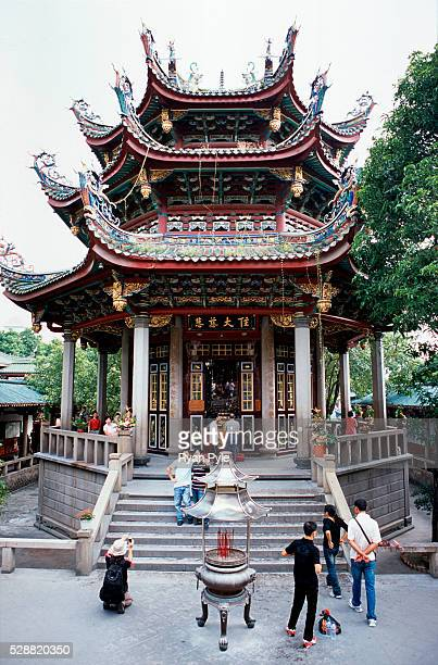 The Hall of Great Benevolence at the Nanputuo Temple in Xiamen. The Nanputuo Temple is located on the southeast of Xiamen Island. It is surrounded by...