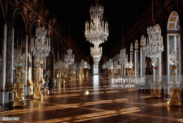 The Hall of Mirrors, Palace of Versailles , Ile-de-France. France, 17th century.