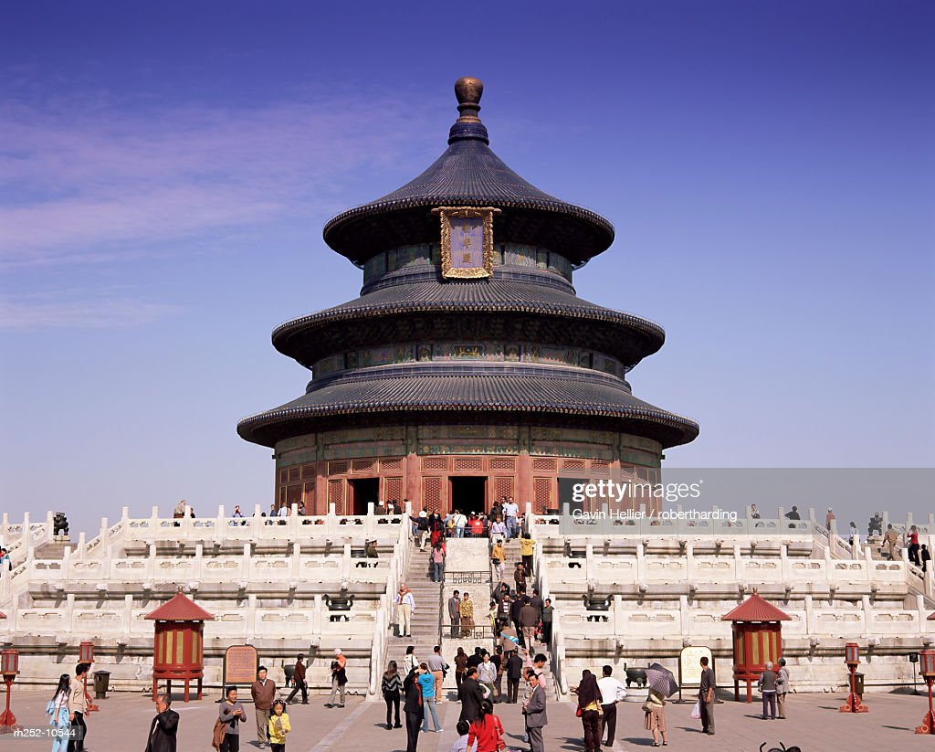 The Hall of Prayer for Good Harvests, Temple of Heaven, Tiantan Gongyuan, UNESCO World Heritage Site, Beijing, China, Asia : Foto de stock