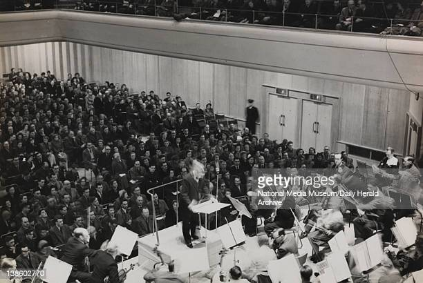 The Halle Orchestra test the acoustics in the rebuilt Manchester Free Trade Hall