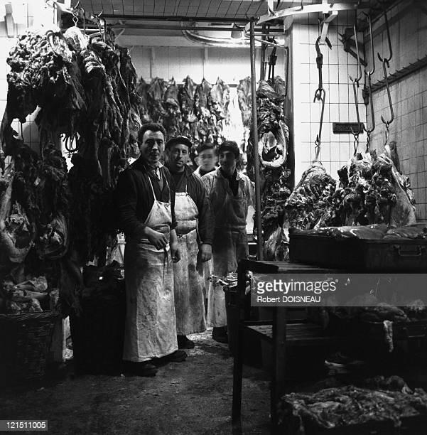 The Halles Of Paris Butchers Workshop France 1968