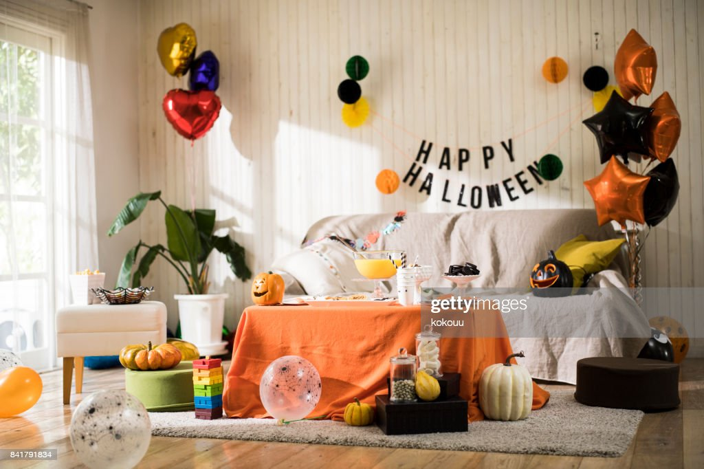The Halloween party is ready. : Stock Photo