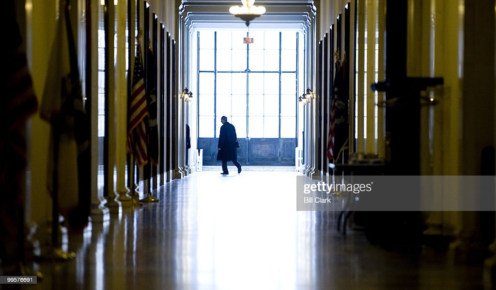 The halls of the Russell Senate Office building are mostly empty on Wednesday, Feb, 17, 2010, during the Presidents Day recess.