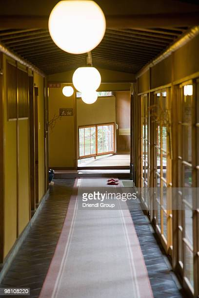 The hallway of a Traditional Japanese Ryokan.