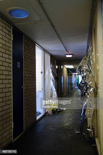 The hallway outside the crime scene at Millcent Fawcett A man was stabbed to death at 73 Millicent Fawcett Pembury Road in the London northern suburb...