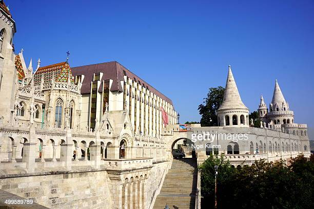 The Halászbástya or Fisherman's Bastion is a terrace in neo-Gothic and neo-Romanesque style situated on the Buda bank of the Danube, on the Castle...