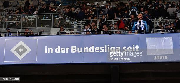 The Hamburg Bundesliga clock during the Bundesliga match between Hamburger SV and FC Bayern Muenchen at Imtech Arena on May 3 2014 in Hamburg Germany