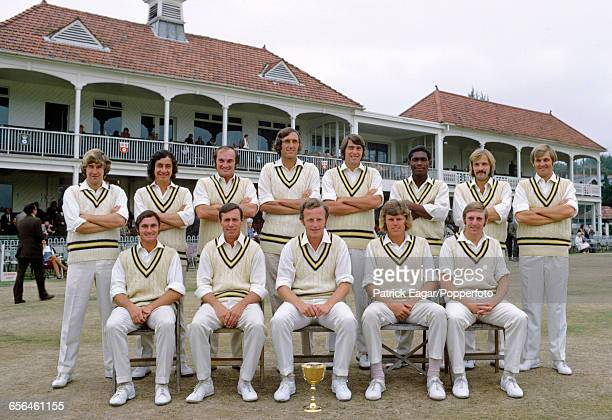 The Hampshire cricket team, County Champions of 1973, during the County Championship match between Hampshire and Kent at Southampton, 8th September...
