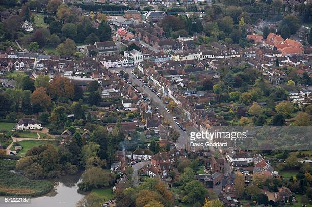 The Hampshire town of New Alresford. On 20th October 2007.