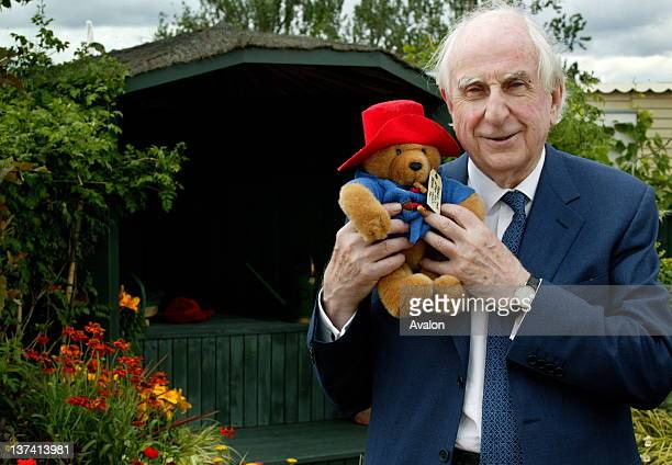 The Hampton Court Palace Flower Show 2005 Press day Hampton Court Palace London Author of the Paddington Bear books Michael Bond in the Action...
