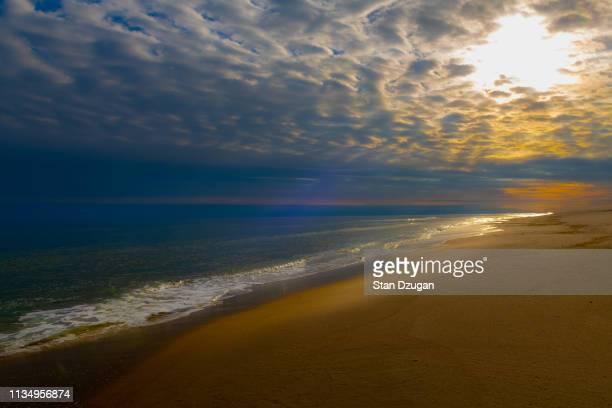 the hamptons beach sunset, southampton new york - east hampton stock pictures, royalty-free photos & images