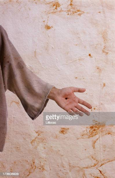 the hand of christ - jesus blood stock pictures, royalty-free photos & images