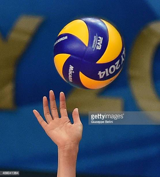 The hand of Saori Kimura of Japan in action during the FIVB Women's World Championship pool D match between Belgium and Japan on September 24 2014 in...