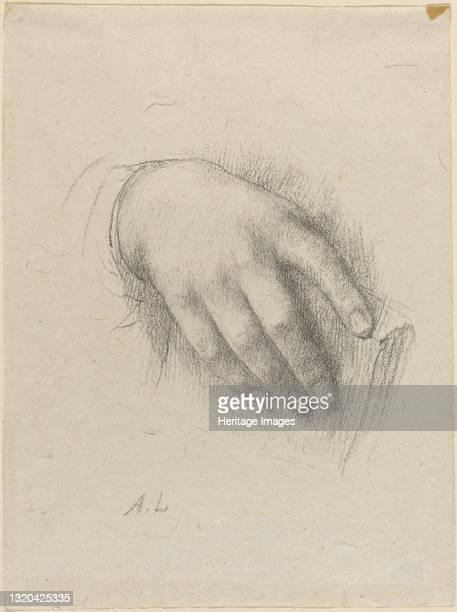 The Hand of the Artist's Daughter. Artist Alphonse Legros.
