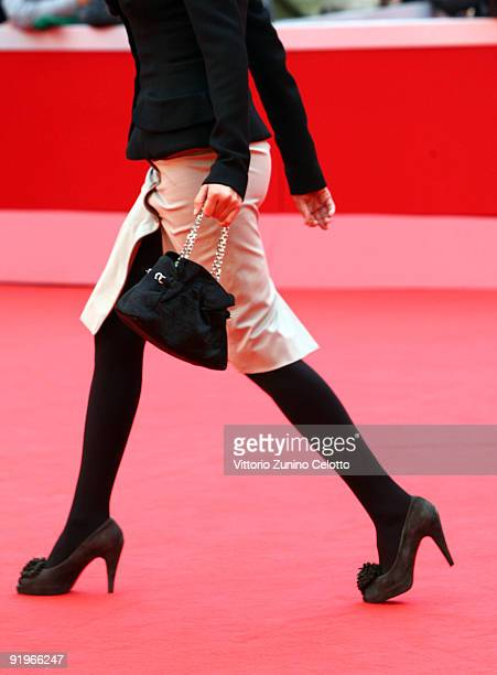 The handbag carried by actress Blanca Romero as she attends the 'After' Premiere during day 3 of the 4th Rome International Film Festival held at the...