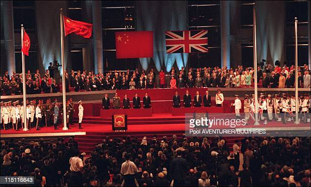 The Handover of HongKong to China in Hong Kong city, Hong Kong on June 29, 1997 - General view of the handover ceremony.