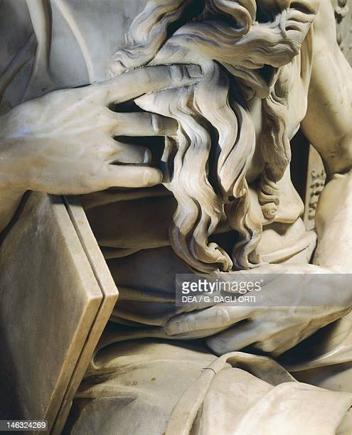 The hands of Moses detail from the tomb of Julius II ca 1515 by Michelangelo Basilica di San Pietro in Vincoli Rome Lazio