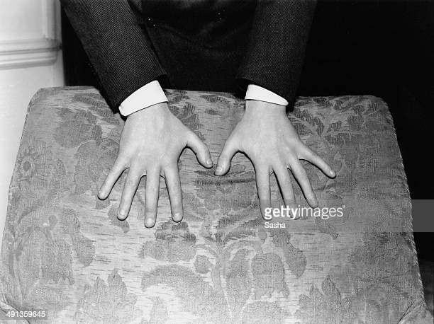 The hands of Russian-born American classical pianist and composer Vladimir Horowitz , circa 1936.