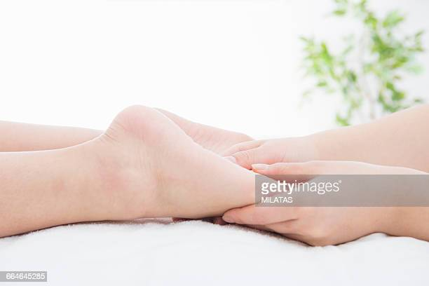 The hands of the japanese women to massage