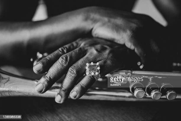 the hands of the trumpet player - soul music stock pictures, royalty-free photos & images