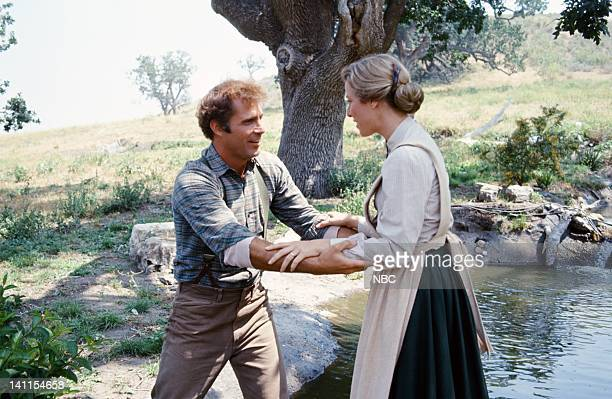 PRAIRIE The Handyman Episode 4 Aired Pictured Gil Gerard as Chris Nelson Karen Grassle as Caroline Quiner Holbrook Ingalls Photo by Bud Gray/NBCU...
