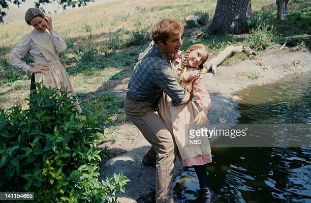 PRAIRIE The Handyman Episode 4 Aired Pictured Karen Grassle as Caroline Quiner Holbrook Ingalls Gil Gerard as Chris Nelson Melissa Gilbert as Laura...