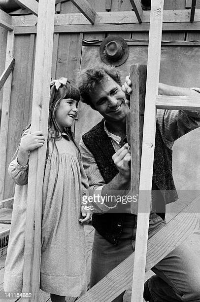 PRAIRIE The Handyman Episode 4 Aired Pictured Lindsay or Sydney Greenbush as Carrie Ingalls Gil Gerard as Chris Nelson Photo by Bud Gray/NBCU Photo...