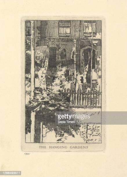 The Hanging Gardens Etching; third state of three, plate: 7 x 4 7/16 in. , Prints, Walter Richard Sickert .
