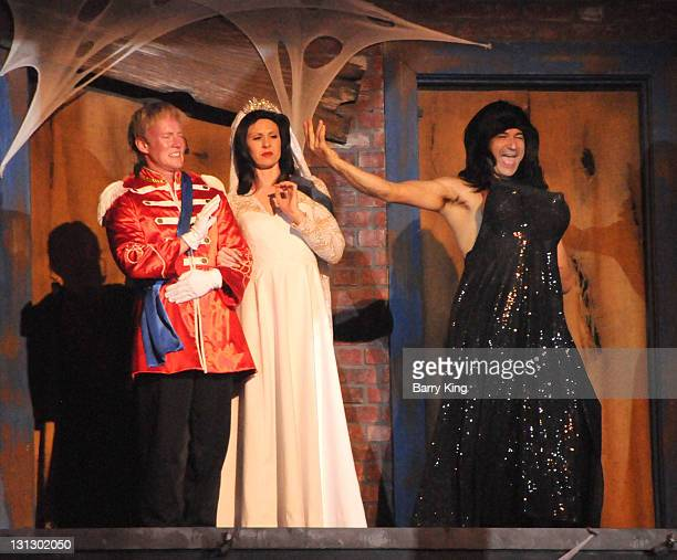 The Hanging show spoof of Prince William, Duke of Cambridge and Catherine, Duchess of Cambridge and tv personality Kim Kardashian at Knott's Scary...