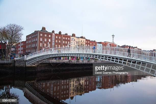 The Ha'penny Bridge in Dublin City