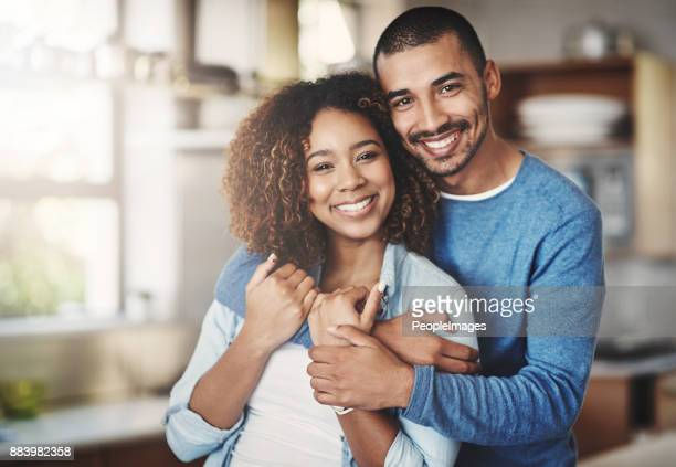 the happiest hearts make the happiest homes - heterosexual couple photos stock photos and pictures