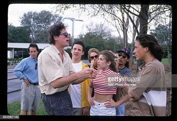 WORLD The Happiest Show On Earth BehindtheScenes Coverage Airdate May 10 1996 PRODUCTION SHOT OF BEN SAVAGE DANIELLE FISHEL AND ANDREW KEEGAN WITH...