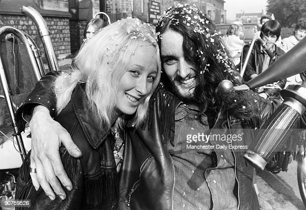 �The happy couple John Fernihough of Walkden and his bride Marie Clarkson of Eccles leave the Registrar�s office�