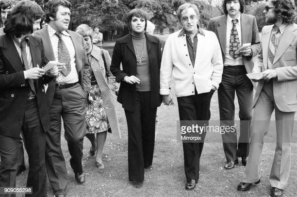 The happy couple Liza Minnelli and Peter Sellers photographed at Shepperton Studios The pair talked of their plans to marry 22nd May 1973