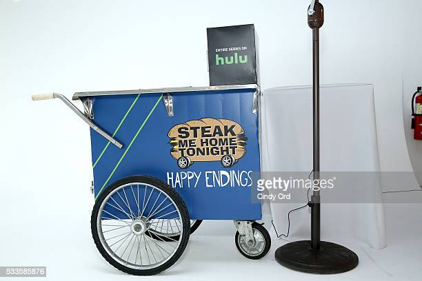 The Happy Endings Cheesesteak cart on display at the 2016 Vulture Festival at Milk Studios on May 22 2016 in New York City