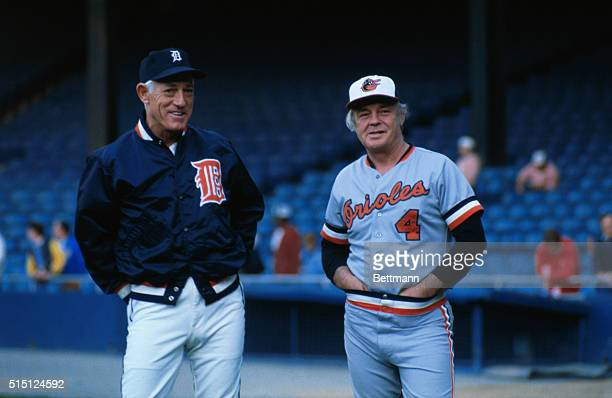 The happy man in this recent photo is Earl Weaver, the manager of the American League pennant winning Baltimore Orioles. His spirits may have been...